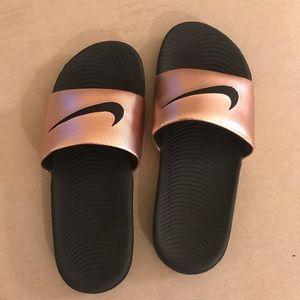 Nike Rose Gold Slides New